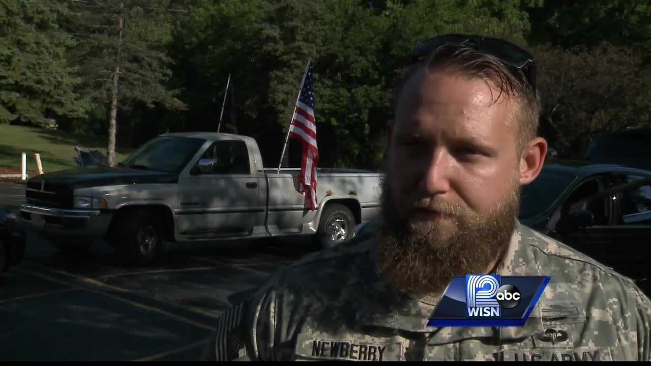 WISN 12 News' Thema Ponton explains the tragic statistic behind Army Combat veteran Daniel Newberry's 22-mile trek.