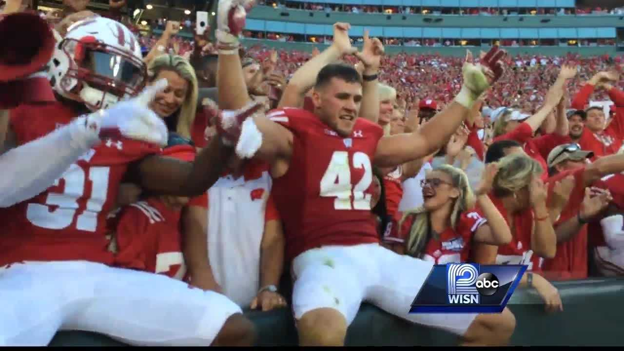"""The Badger football team upsets No. 5 LSU at Lambeau Field by a final score of 16-14. 12 Sports Stephen Watson recaps a night of celebration and """"leaping"""" from the Badgers"""
