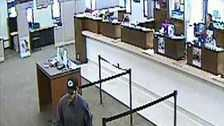 Authorities are searching for a man who robbed the U.S. Bank in Caledonia on Saturday.