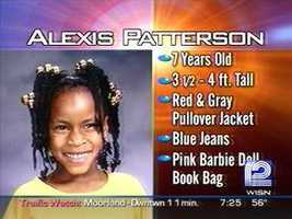 She was last seen by stepfather who said he walked Alexis to school that morning and left her on the playground.