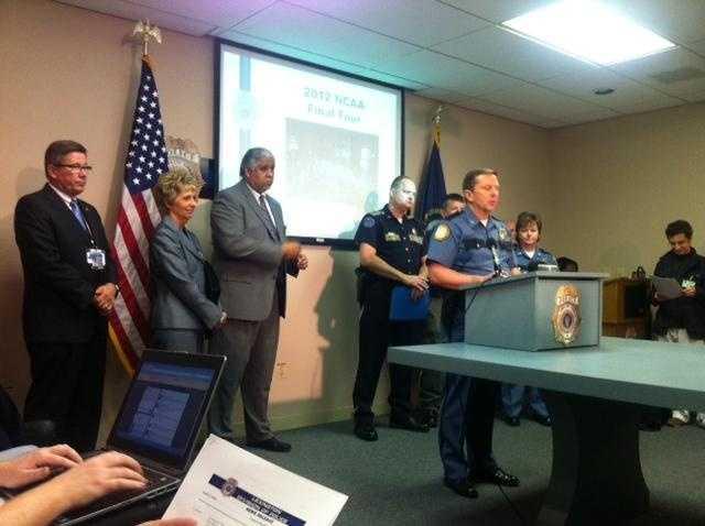 Images: Police Presser After Lexington Riot