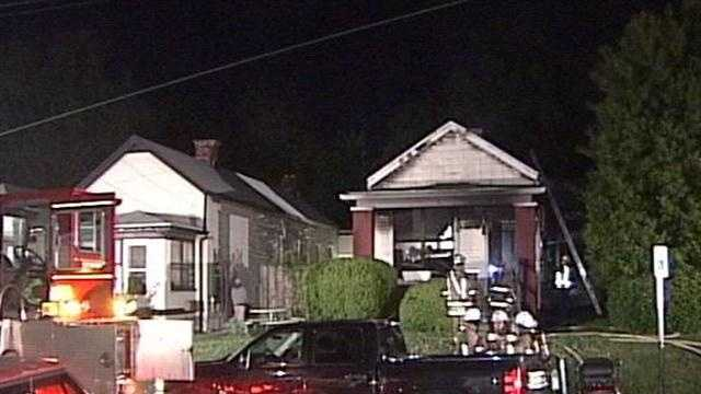 Five people, including a child and firefighter, were rushed to the hospital following a house fire in Germantown.