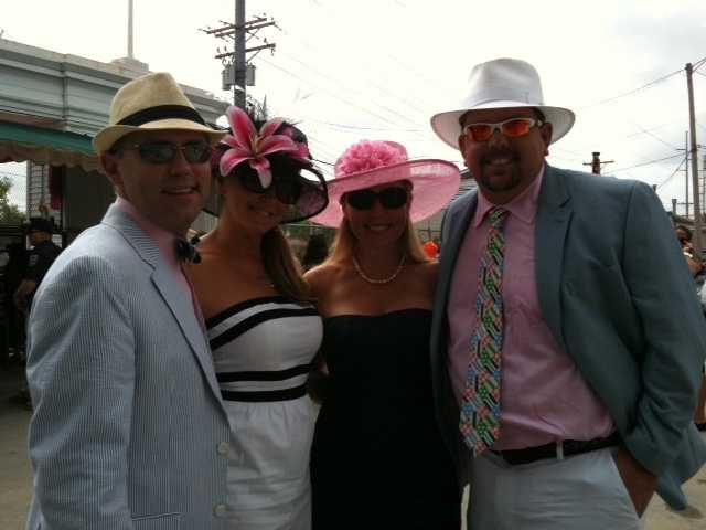 More pink on Oaks Day 2012.