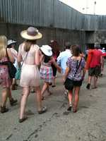 Crowds head to the infield on Oaks Day 2012