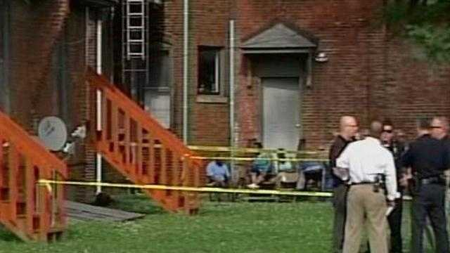 Louisville Metro Police investigate the deaths of two men found at an apartment complex near downtown Louisville.
