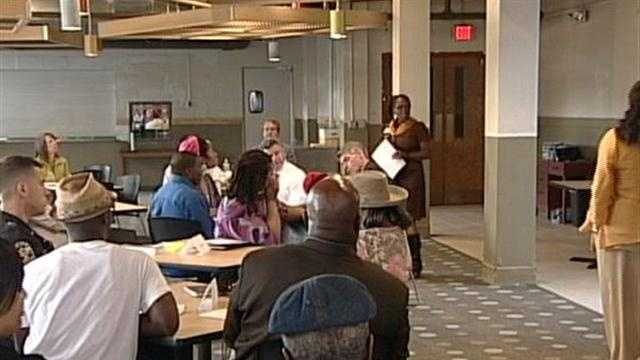 Louisville Metro Councilwoman Attica Scott hosts a community meeting Tuesday to discuss ways to stop violence in west Louisville.