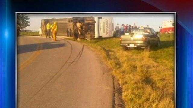Officials say several people have been injured in a tour bus wreck in south-central Kentucky.