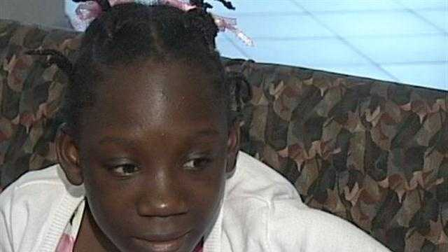 A young girl from Africa is brought to the United States for treatment of a condition that was causing paralysis.