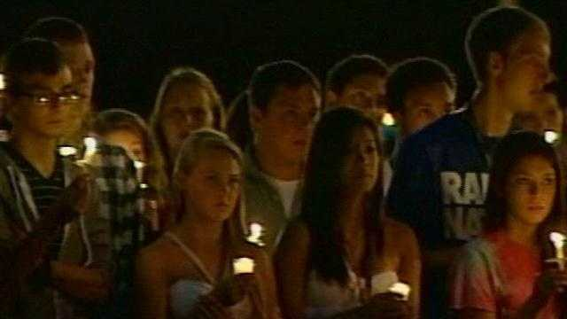 A vigil is held Tuesday night for the teen killed in a crash on Intestate 71 over the weekend.