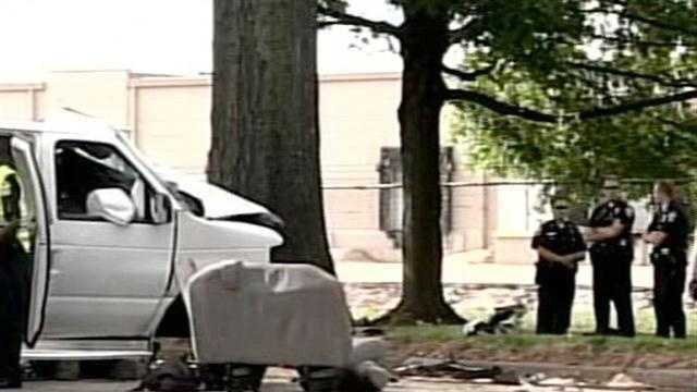 Day care van crash