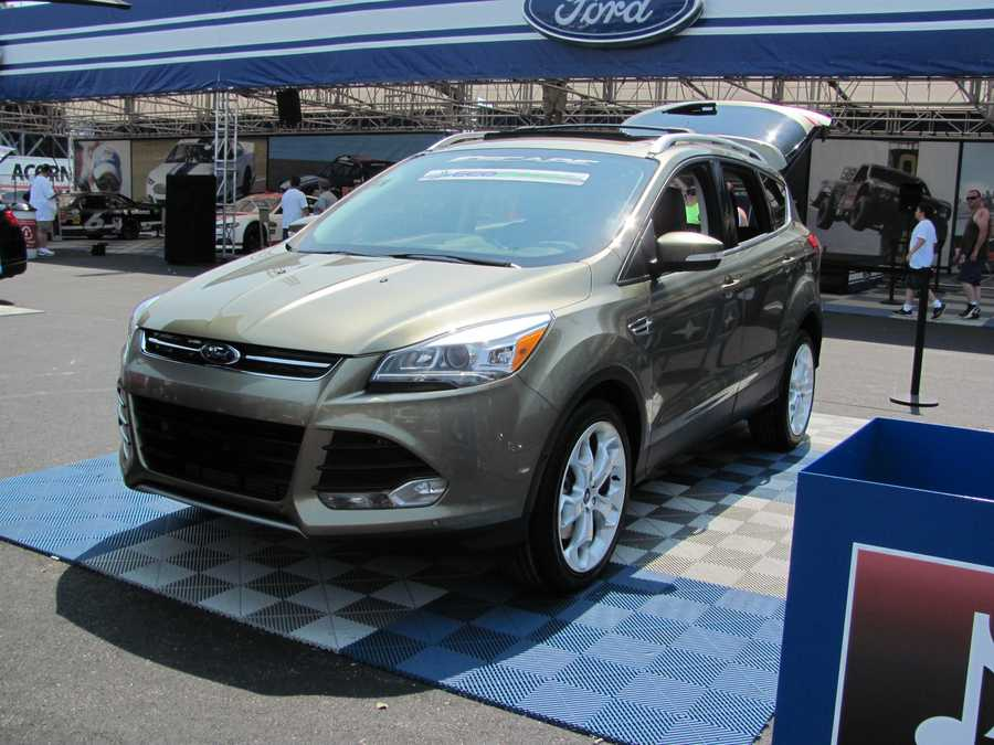 Several Ford vehicles were on display at the track for fans to check out. This is the 2013 Ford Escape, built in Louisville.