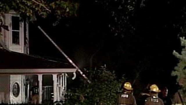 One person was taken to a hospital after a house caught fire in Fern Creek.