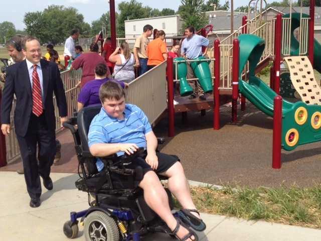 New DREAM playground dedicated at Petersburg Park.