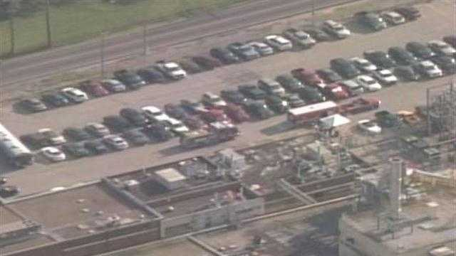 Employees at Zeon Chemical were let back in the building after an evacuation due to a chemical reaction inside the plant.