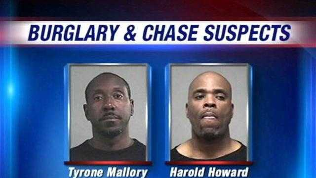 Louisville Metro Police arrest two Cincinnati men after a high-speed chase Thursday morning.