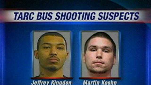 U.S. Marshals arrest two suspects in the shooting of a teenager on a TARC bus.