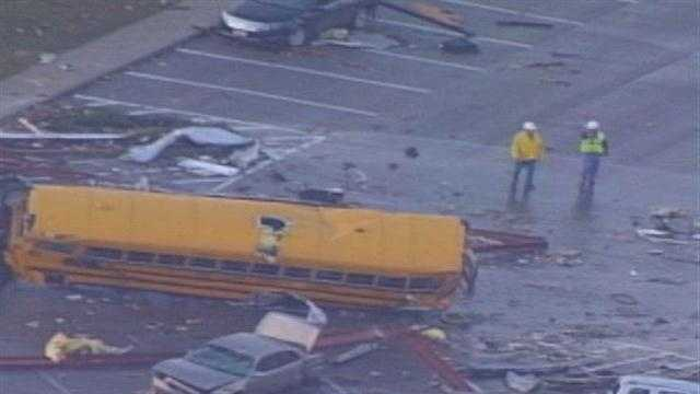 Henryville students start school after March tornadoes destroyed the building.