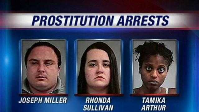Police say the alleged prostitution ring was being run from an office in a building in the 200 block of Breckenridge Lane, just one block away from the police station.