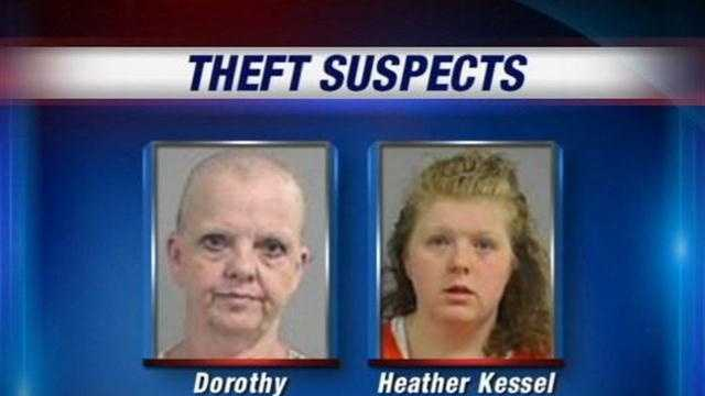 A grandmother and mother are arrested and accused of using the mother's children to help shoplift.