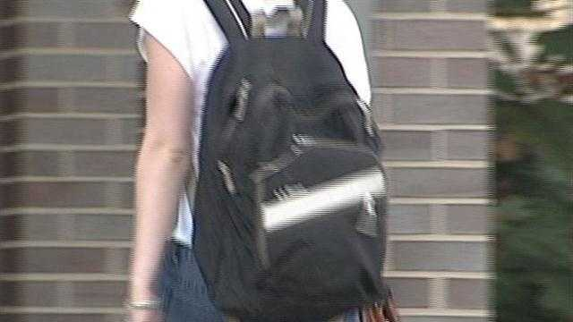 Heavy backpacks can cause back problems