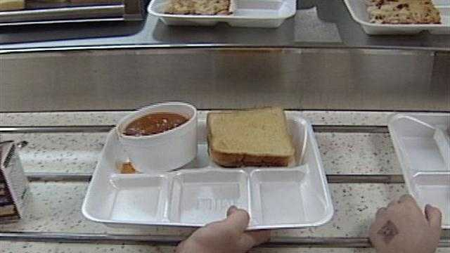 It's now required that every student takes at least one serving of a fruit or vegetable.