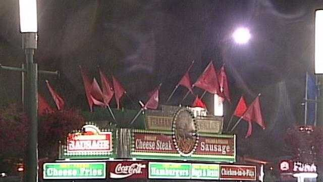 Thunderstorms shake up events during the opening day of the Kentucky State Fair.