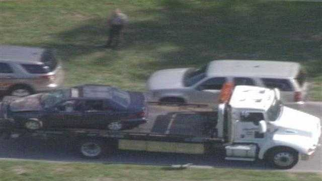 One student is dead and another is injured after a crash near a Harrison County high school.