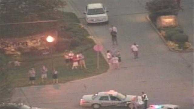 Raw aerials: East end church shooting