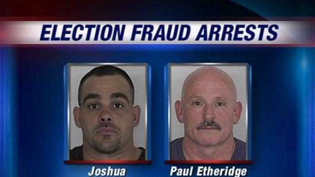 The Floyd County grand jury has indicted two men on voter fraud charges.