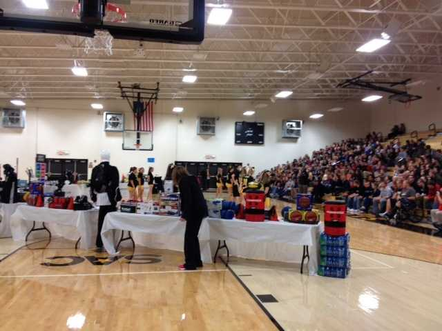 Six months after a tornado destroyed much of their school, the Henryville Hornets sports programs got a big surprise. The school received footballs, basketballs, tennis racquets and more.