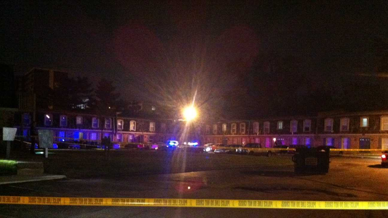 Louisville Metro Police search for a gunman after a shooting near the Bashford Manor neighborhood.