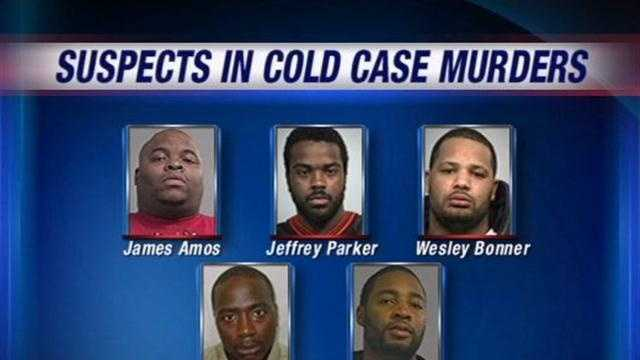 Indictments handed down implicating five men for three different murders.
