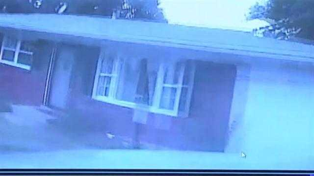 Dash camera video of police cruiser crash.