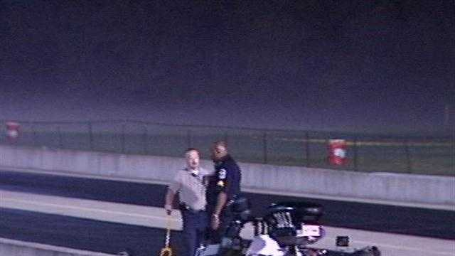 Three people are injured over the weekend at a local drag race.
