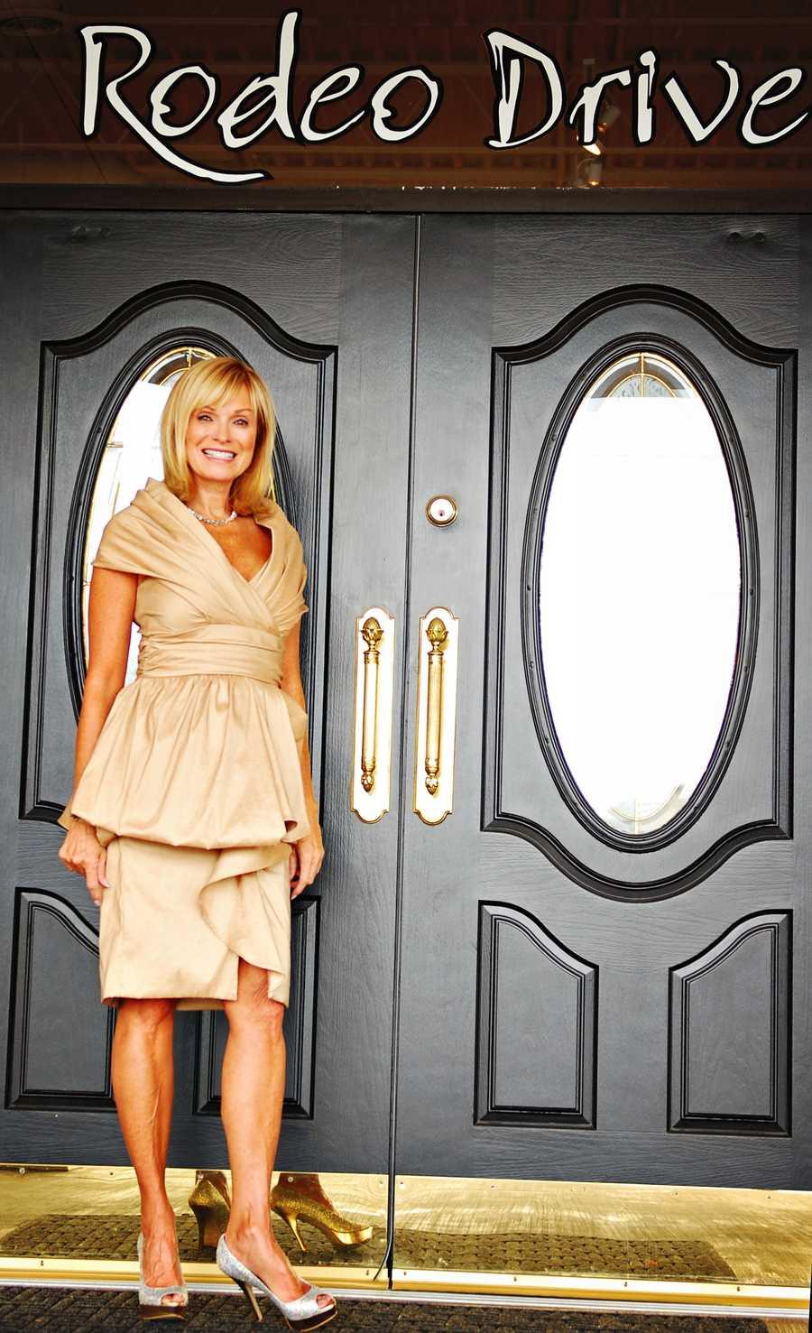 Badgley Mischka champagne dress (Vote here)