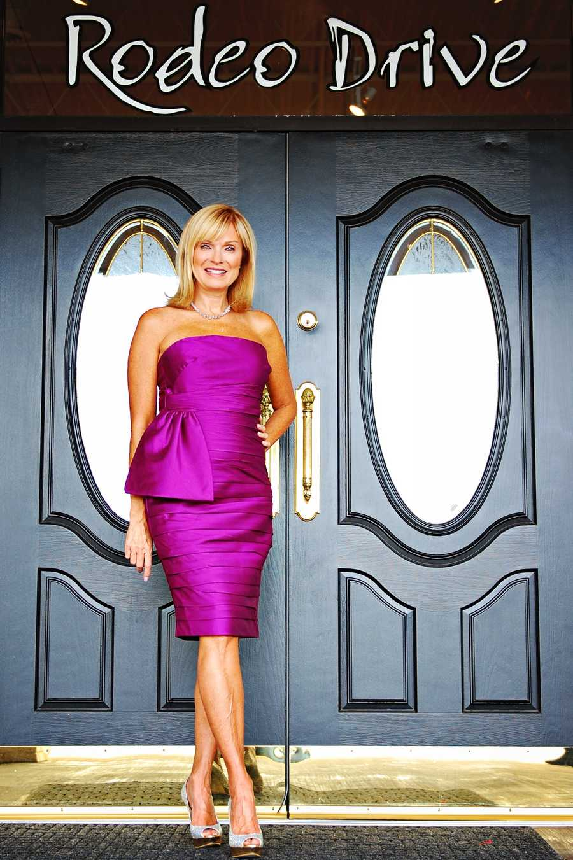Monique Lhuiller strapless amethyst cocktail dress (Vote here)