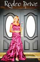 Nicole Miller cranberry technometal gown(Vote here)