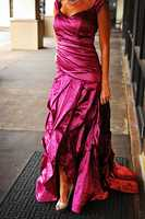 Nicole Miller cranberry technometal gown (Vote here)