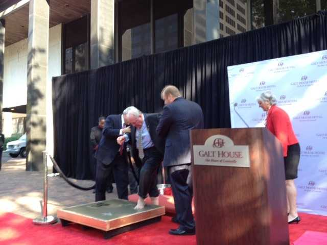 Two Louisville natives -- Conrad Bachman, and the late Warren Oates -- were both inducted to the walk.