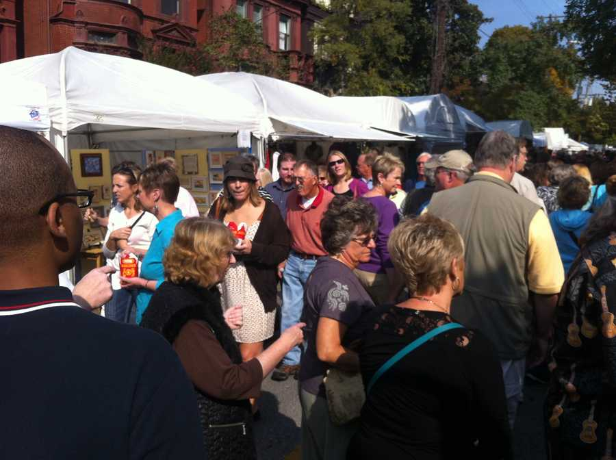 The St. James Court Art Show goes through Sunday.