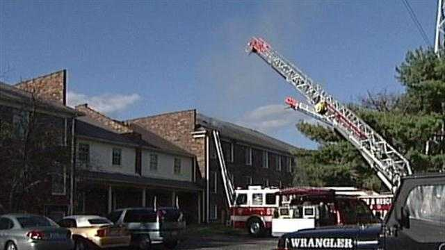 Lyndon apartment building catches fire