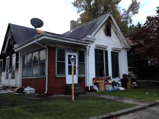 A fire broke out at a home around 1 a.m. in the 1100 block of Oak Street Monday.