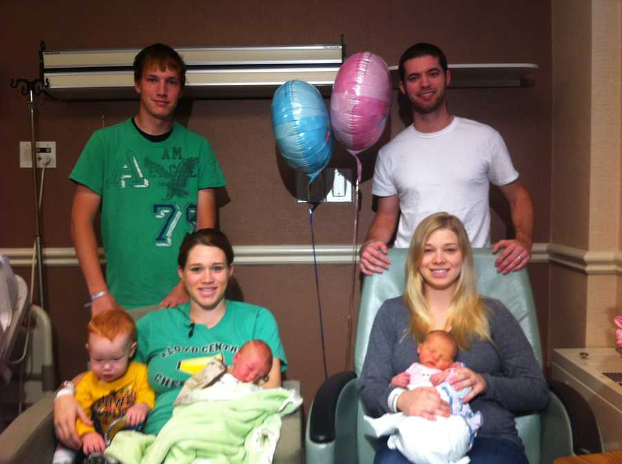 Left- Adam, Andrea, Aiden and Archie David CombsRight- Kyle, Amanda and Emma Grace Marie Richardson