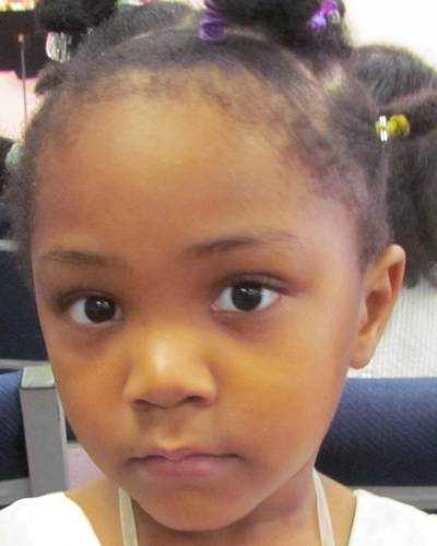 Maayimuna Njayi N'Diaye is 5 years old and went missing on January 1, 2012 from Morehead, KY. Maayimuna's nicknames are Muna and Nee. She was allegedly abducted by her father, who returned to Mali.