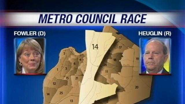 Two candidates are competing for an open seat on the Louisville Metro Council in District 14.
