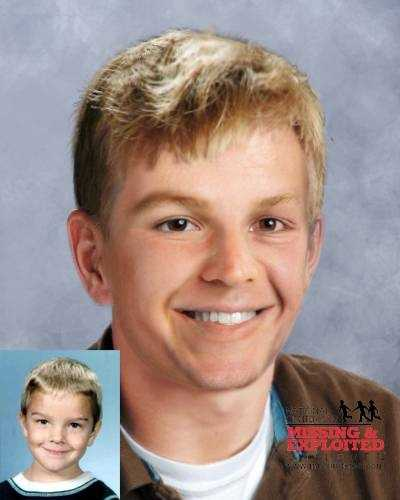 Nathan Phillip Slinkard was also allegedly abducted by his mother along with his brother and sister from Greenfield, IN on October 17, 1995. Nathan has a surgical scar on the right side of his abdomen and a scar on his inner, right wrist. He has blonde hair , blue eyes and was 5 years old at the age of his disappearance. This photo is age progressed to show Nathan at age 20, 22 years old.