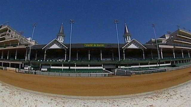 Churchill Downs track and twin spires