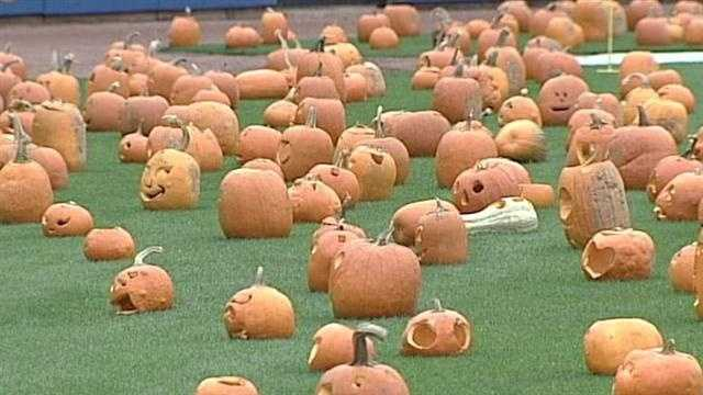 A total of 2,500 pumpkins will take over Louisville Slugger Field tonight as part of a fundraiser for Dreams with Wings.