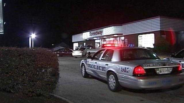Police are searching for suspects after a customer was shot at a Louisville gas station.
