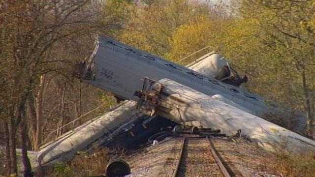 Train derailment latest